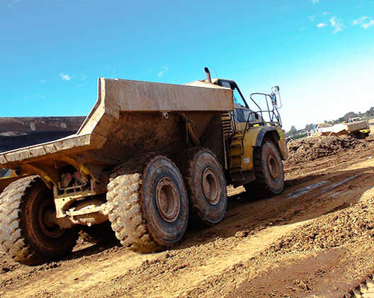 on site dump trucks