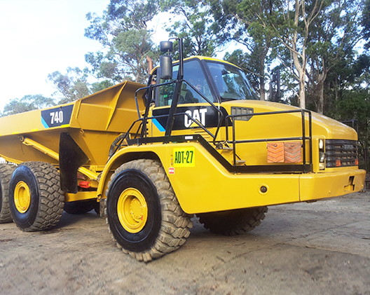site management dump trucks