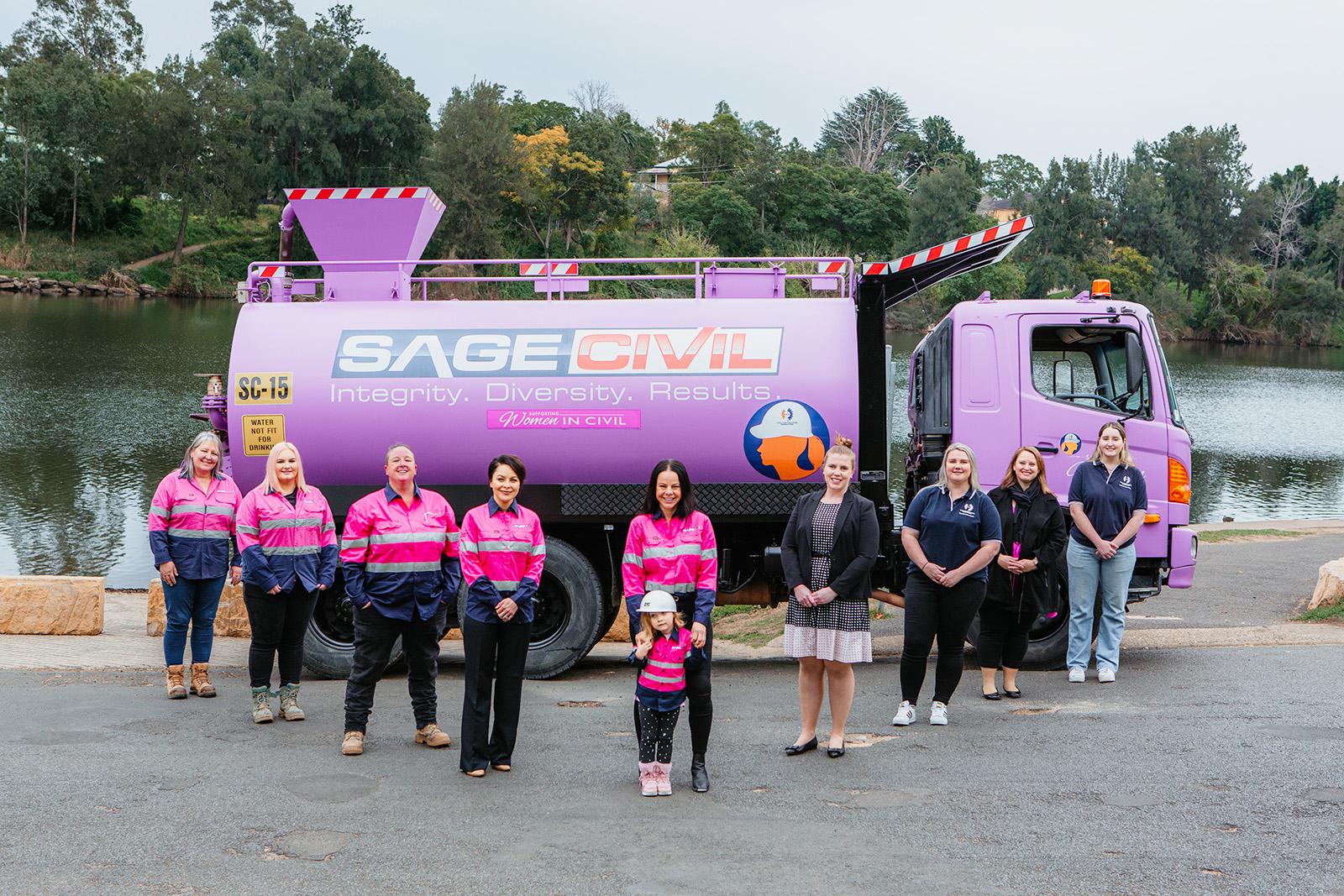 Sage Civil Australia - Purple Truck